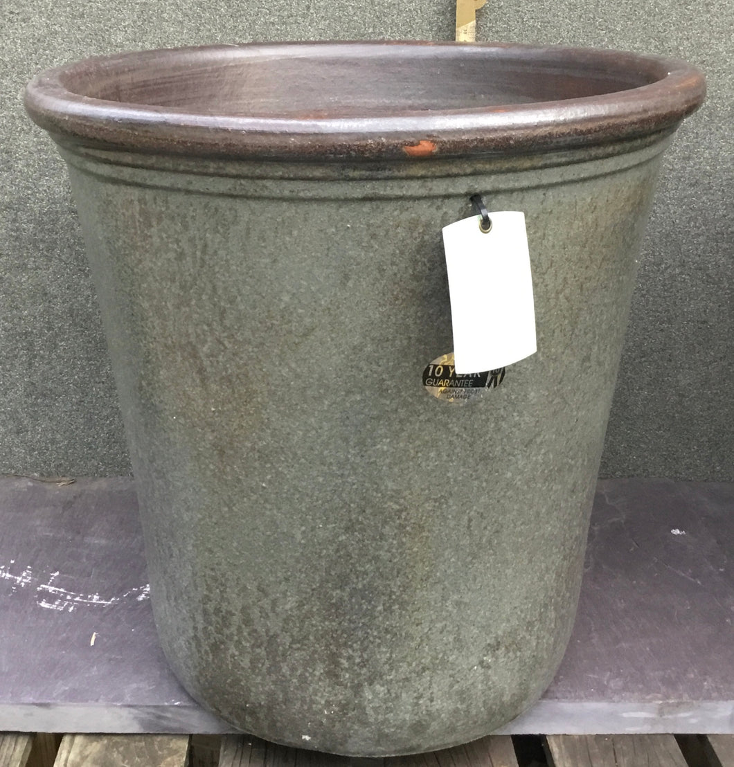 Grey Vintage Glazed Pot