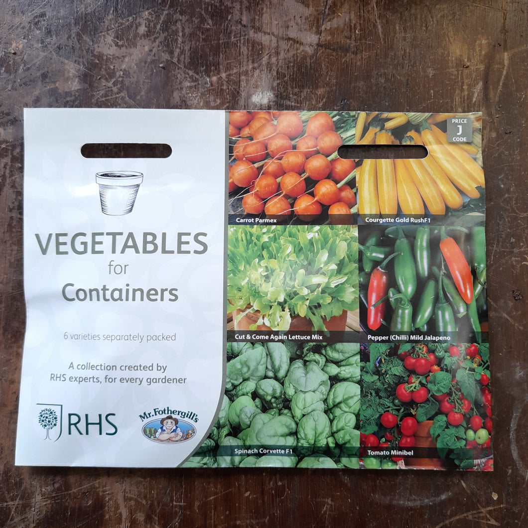 Vegetables for Containers - RHS Flower Collection