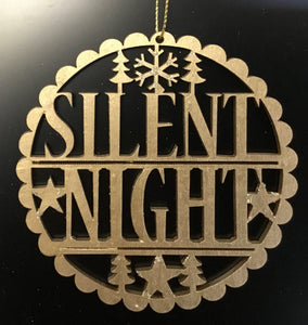 Wooden fretwork 'Silent Night' 10cm