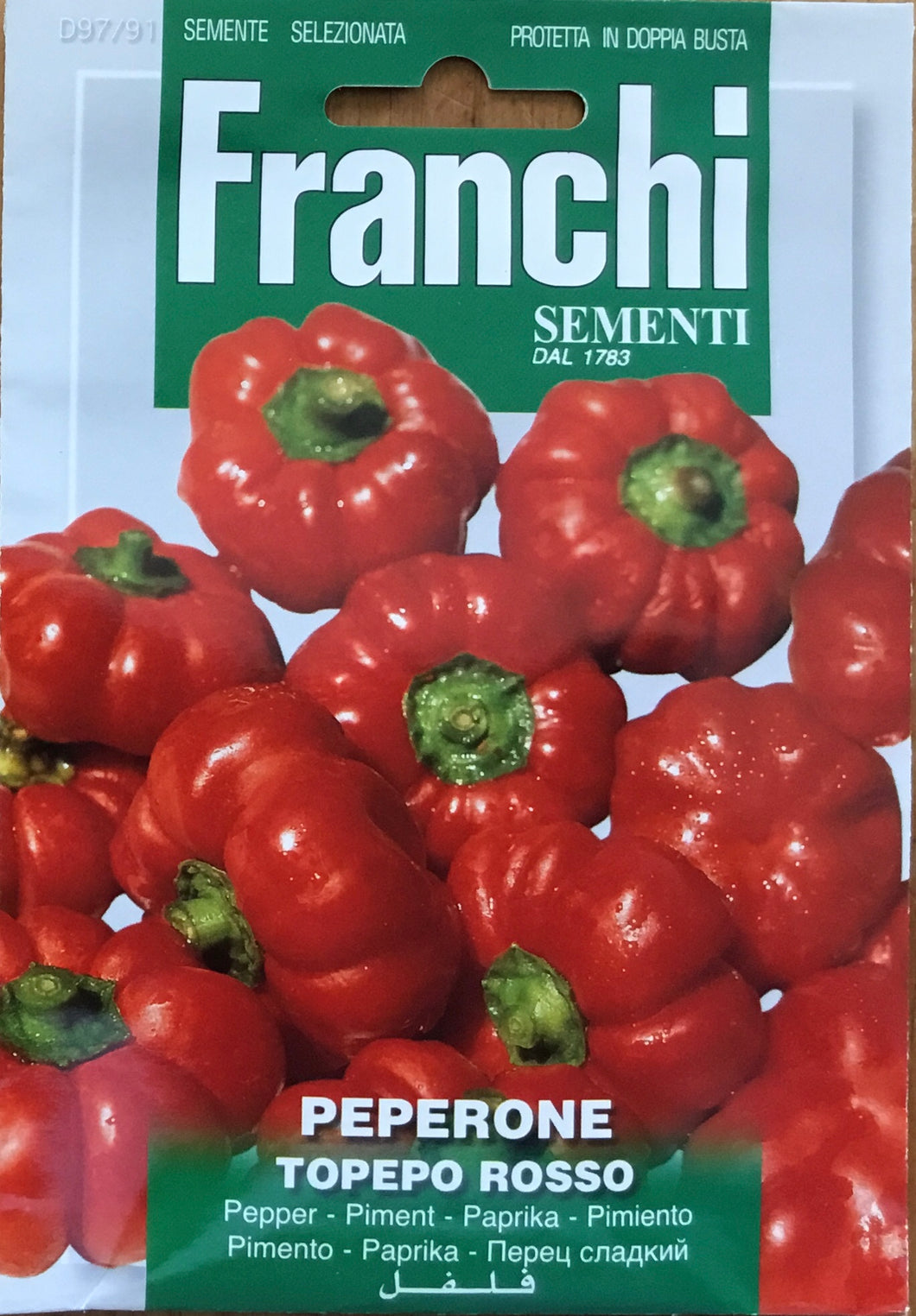 Franchi of Italy Pepper topepo rosso