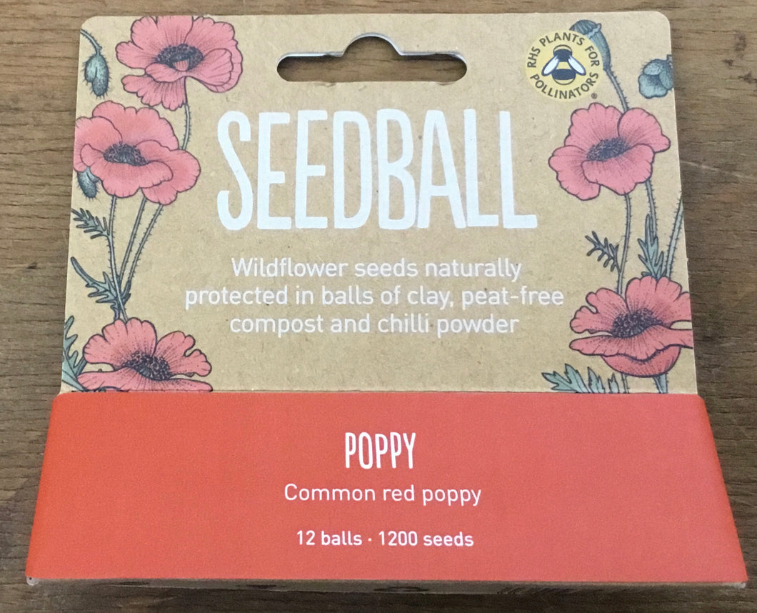 Poppy Seedball Tube (12x balls, 1200 seeds)