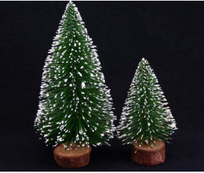 Frosted Pine Mini Tree 12 & 8cm