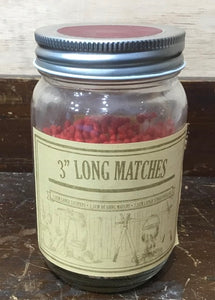 "3"" Long matches in jar"