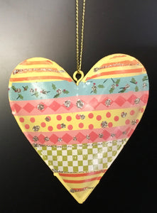 Tin Patterned Heart