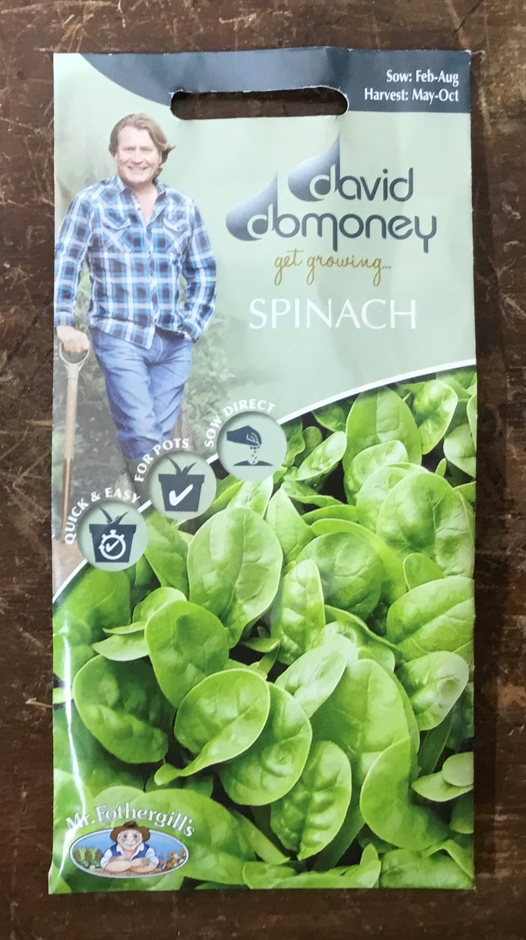 Spinach Emilia F1 - David Domoney Vegetables