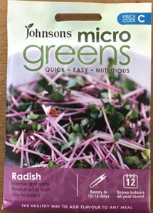 Radish for Leaf Micro Greens