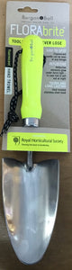 Fluorescent hand trowel yellow