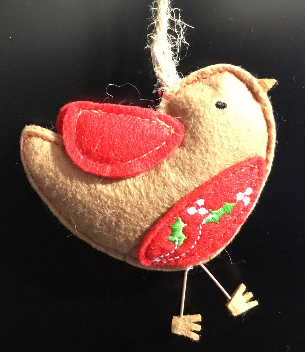 Felt Robin tree decoration