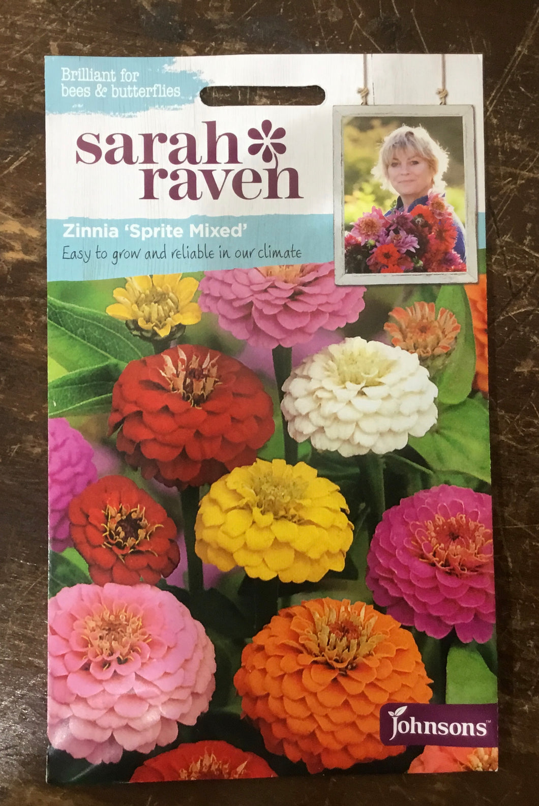 Zinnia 'Sprite Mixed' -  Sarah Ravens Flower Seeds