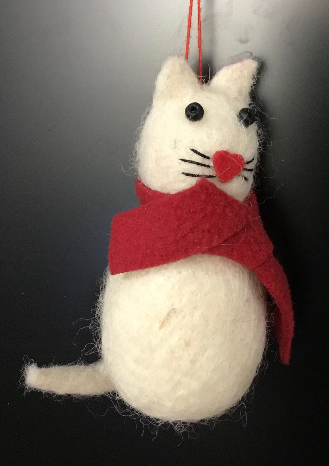 Cat with Scarf - Eco Wool decorations