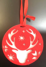 Load image into Gallery viewer, Felt Disc reindeer red  14342