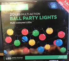 Load image into Gallery viewer, 20 ball party lights Christmas tree lights