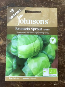 Brussel Sprout Igor F1 - Johnsons Organic Vegetables