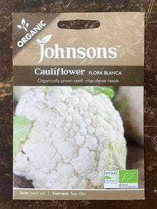 Cauliflower flora blanca - Johnsons Organic Vegetables