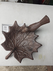 Leaf with Bird - bird bath