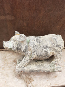 AC163 - AGED TERRACOTTA PIG