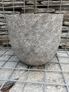 Cut Stone Egg Pot