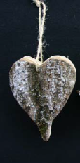 Bark Heart, Star or Tree 12cm