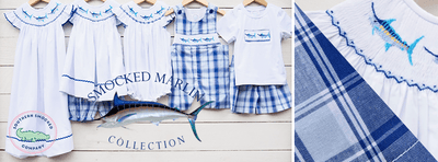 Smocked Marlin Bishop - Southern Smocked Company | Great Deals On Classically Styled Smocked, Monogrammed, & Embroidered Infant, Toddler, & Children's Clothing