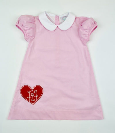 EMBROIDERED HEART DRESS - Southern Smocked Company | Great Deals On Classically Styled Smocked, Monogrammed, & Embroidered Infant, Toddler, & Children's Clothing