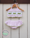 Smocked Alligator Seersucker Bikini - Southern Smocked Company | Great Deals On Classically Styled Smocked, Monogrammed, & Embroidered Infant, Toddler, & Children's Clothing