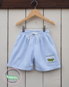 Smocked Alligator Seersucker Swimsuit - Southern Smocked Company | Great Deals On Classically Styled Smocked, Monogrammed, & Embroidered Infant, Toddler, & Children's Clothing