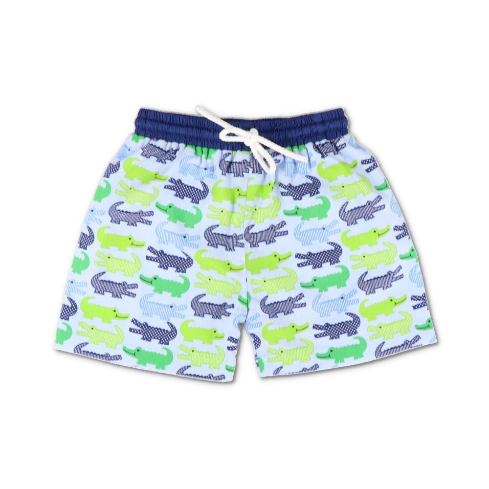 Alligator Print Swim Trunks