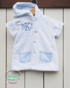 Organic Terry Cloth & Blue Seersucker Cover-Up - Southern Smocked Company | Great Deals On Classically Styled Smocked, Monogrammed, & Embroidered Infant, Toddler, & Children's Clothing