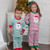 Santa Face Christmas Green Pajama Set