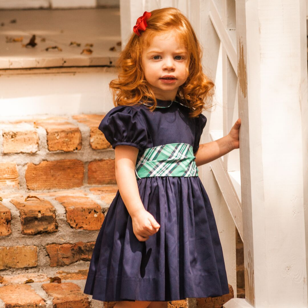 Cambridge Plaid & Navy Dress