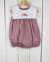 Crimson Gingham Bib Girl Bubble