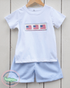AMERICANA SHIRT & SHORTS SET - Southern Smocked Company | Great Deals On Classically Styled Smocked, Monogrammed, & Embroidered Infant, Toddler, & Children's Clothing