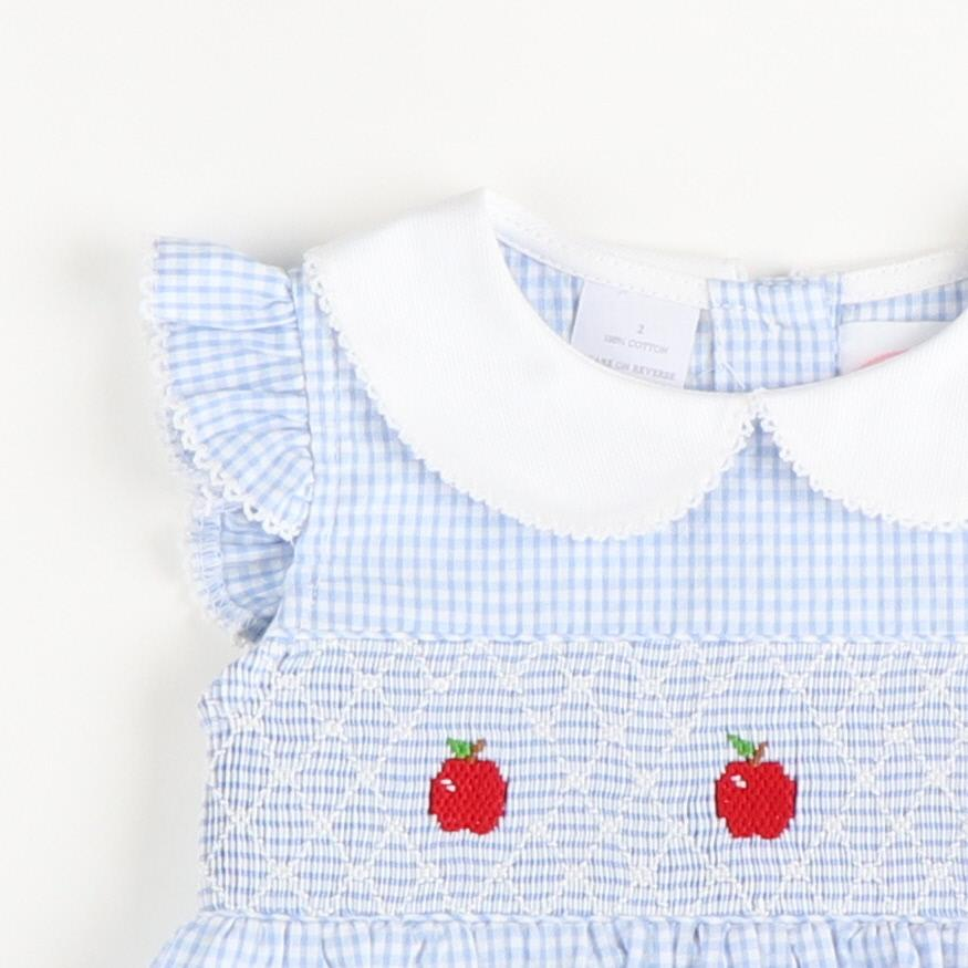 Smocked Apples Collared Bubble