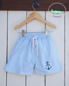 BLUE SEERSUCKER ANCHOR SWIMSUIT - Southern Smocked Company | Great Deals On Classically Styled Smocked, Monogrammed, & Embroidered Infant, Toddler, & Children's Clothing