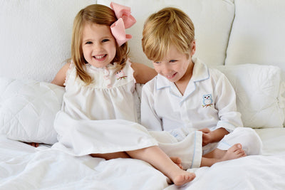 Embroidered Owl Pajama Set - Southern Smocked Company | Great Deals On Classically Styled Smocked, Monogrammed, & Embroidered Infant, Toddler, & Children's Clothing