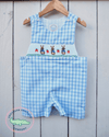 PETER RABBIT SHORTALL (BLUE GINGHAM) - Southern Smocked Company | Great Deals On Classically Styled Smocked, Monogrammed, & Embroidered Infant, Toddler, & Children's Clothing