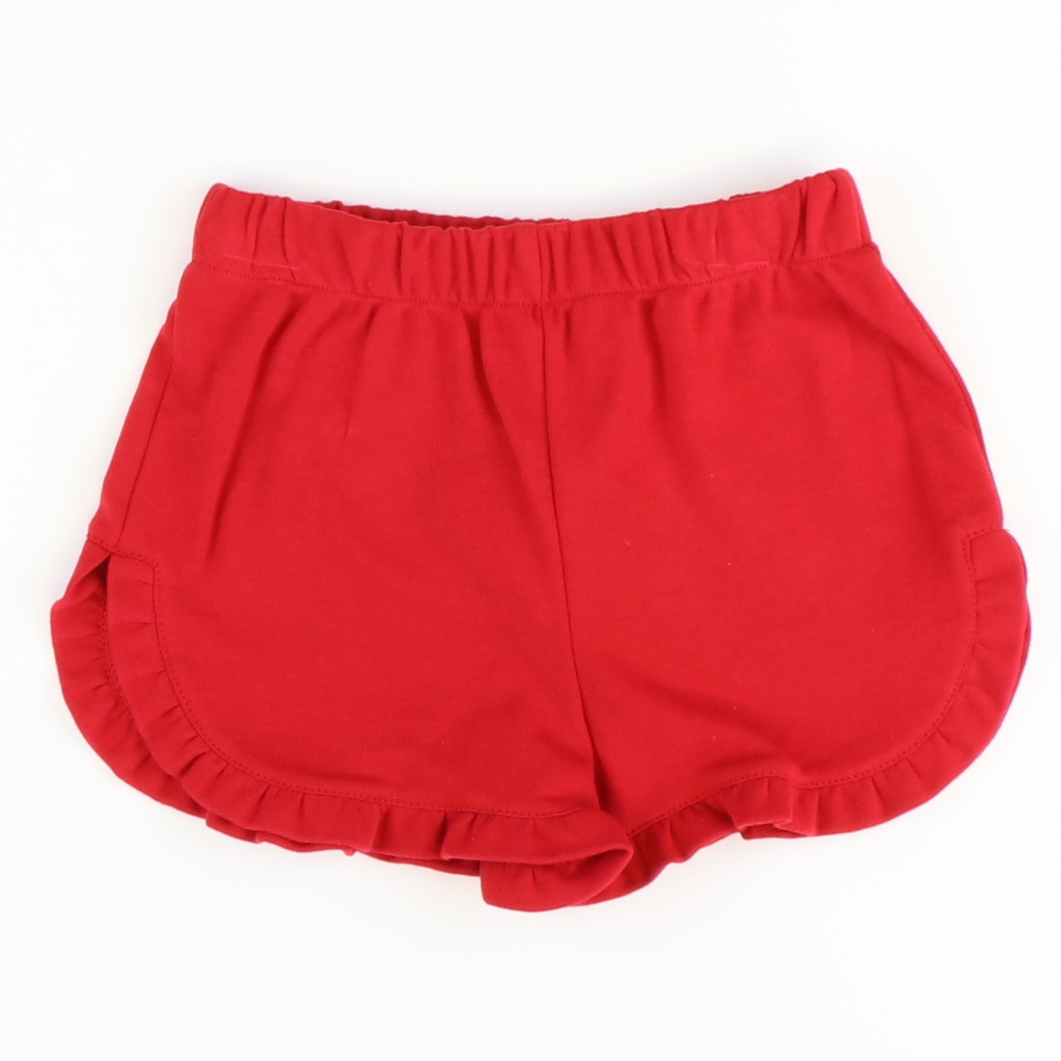 Ruffle Shorts - Red Knit - Stellybelly ?id=28092676210767