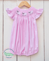 SMOCKED LITTLE LAMB PINK BUBBLE - Southern Smocked Company | Great Deals On Classically Styled Smocked, Monogrammed, & Embroidered Infant, Toddler, & Children's Clothing