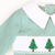 Smocked Merry & Bright Christmas Tree Collared Boy Long Bubble - Green Mini Gingham