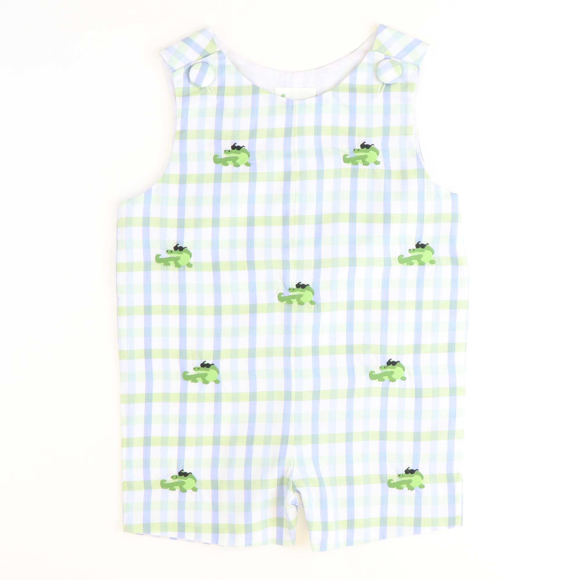 Embroidered Crocodile Shortall