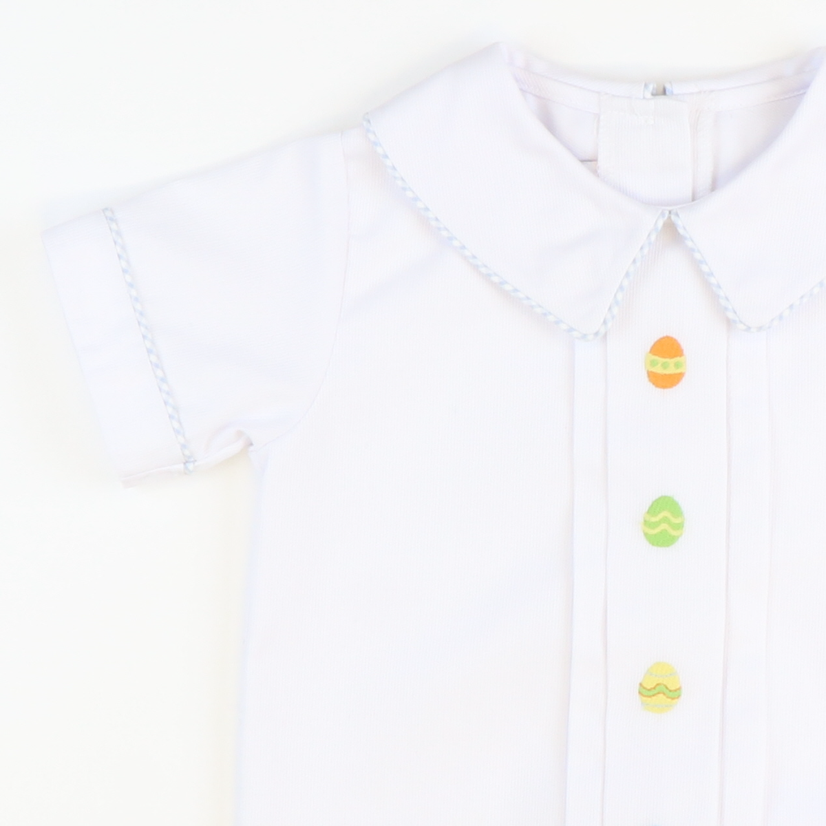 Embroidered Easter Eggs Collared Short Set