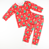 Reindeers & Christmas Trees Red Pajama Set