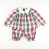Windsor Plaid Collared Top & Bloomer Set