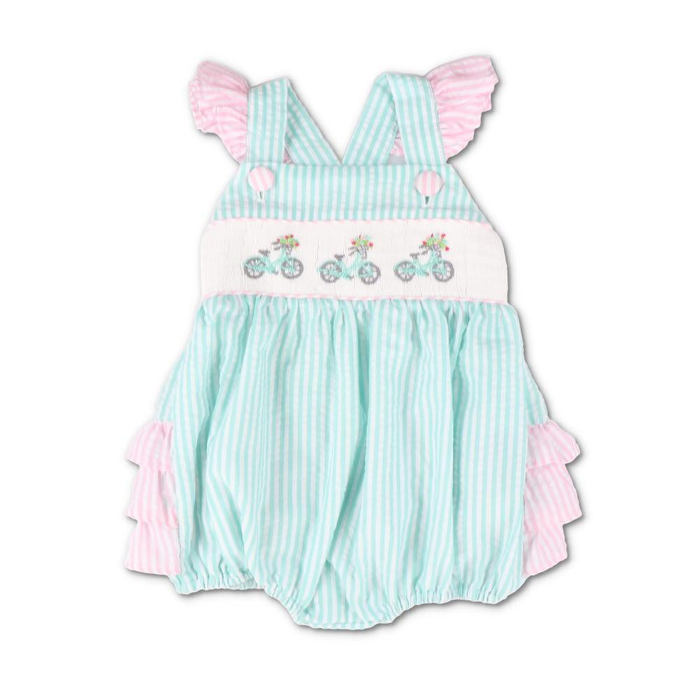 71f5b233a Smocked Seaside Bicycle Bubble - Southern Smocked Company