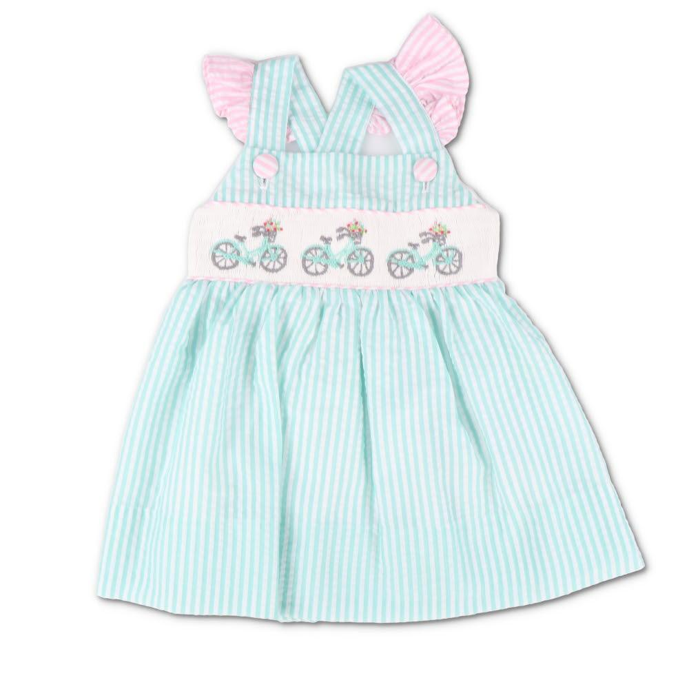 Smocked Seaside Bicycle Dress