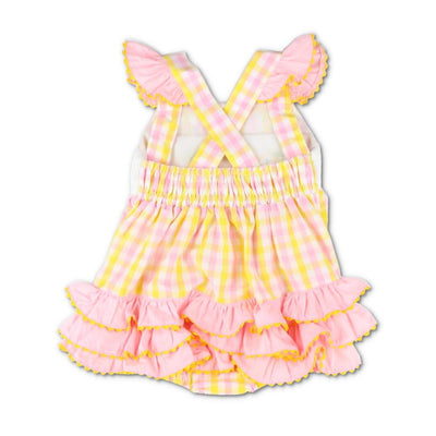 Smocked Pink Lemonade Bubble