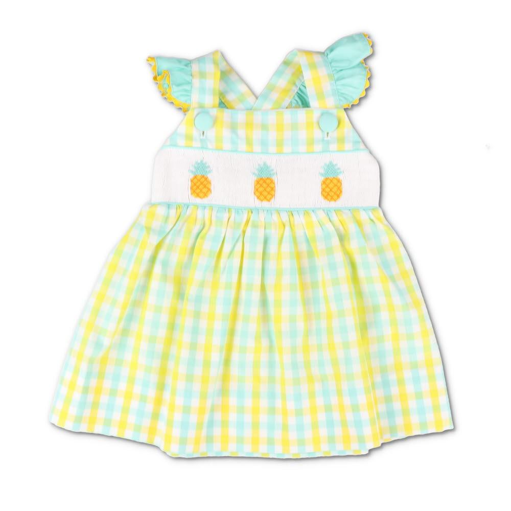 Smocked Pineapple Island Dress