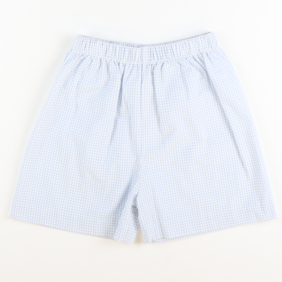 Signature Shorts - Light Blue Mini Check Seersucker