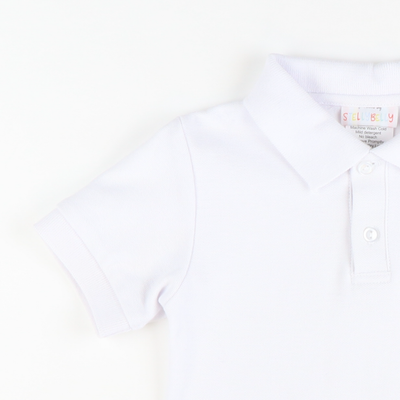 Signature Short Sleeve Polo - White Pique
