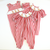 Smocked Reindeer Girl Long Bubble - Red Wide Check